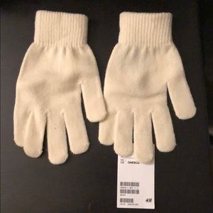 Off white/cream H&M gloves